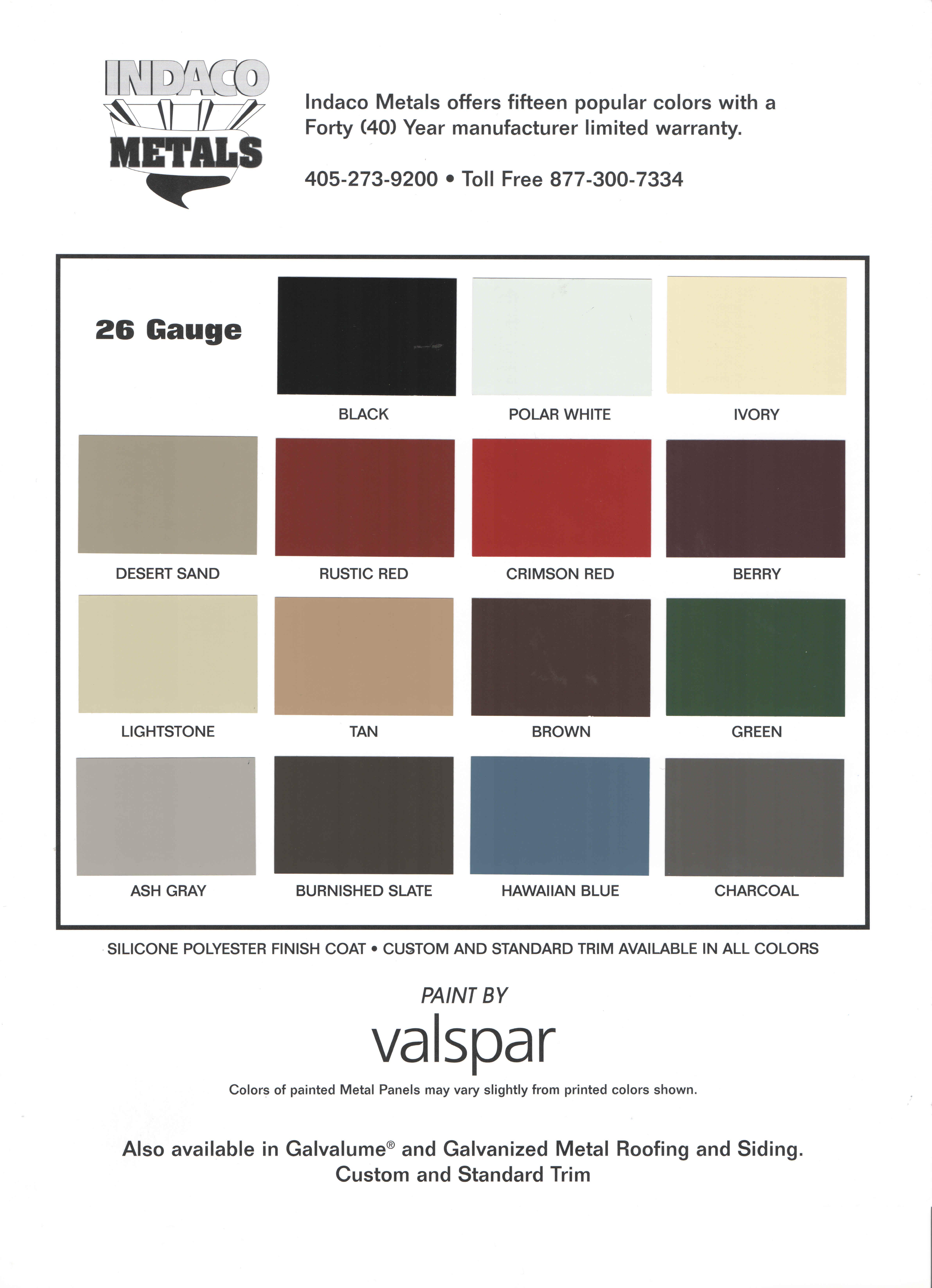 GCI color chart